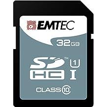 Emtec 32GB SDHC 32GB SDHC Clase 10 memoria flash - Tarjeta de memoria (32 GB, SDHC, Clase 10, 25 MB/s, Negro)