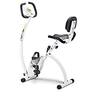 413RS3vxMVL. SS300  - Tecnovita by BH Total Access YF92 foldable fitness exercies bike -you´re in control - flywheel equivalent to 18 lbs - foldable fitness bike- easy access- ergonomic saddle with backrest - lateral support handles - magnetic brake system - includes wheels - white