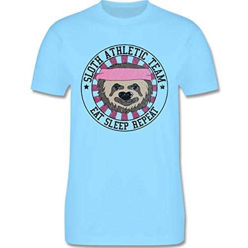 Statement Shirts - Sloth Athletic Team Faultier - Herren Premium T-Shirt Hellblau