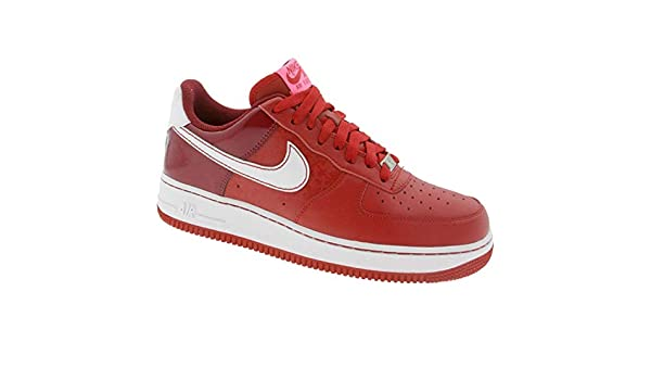e91c8e07b0f2 Nike Womens Air Force 1 Low - 2008 Valentines Day (Varsity red White Team  red Laser Pink)-8.5