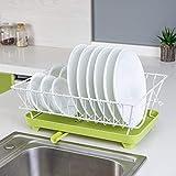 WENYC Bett-artiges Abtropfschale-Rack Einschichtiges Abtropfgestell Küche-Fertigstellung-Küchenregal Vier Farbkombinationen 39 * 31