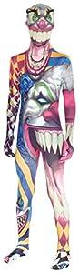 Morphsuits, Disfraz infantil Monstruo payaso, multicolor, 8-10 años/ M