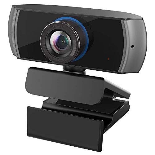 MX kingdom Webcam Full HD, 1080P / 1536P Computer Kamera Breitbild Videotelefonie und Aufzeichnung, Digitale Webcam mit Mikrofon, Streaming Kamera für Kompatibel mit Windows, Mac und Android