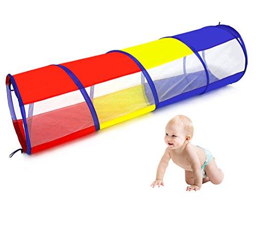 Tunel infantil plegable para niños 180cm (longitud) x 46cm (Diámetro), uso exterior e interior