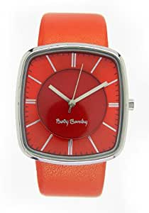 Betty Barclay Women's Quartz Watch with Orange Dial Analogue Display and Orange Leather Strap BB105.03.308.323