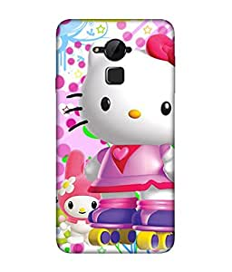 chnno Hello Kitty 3D Printed Back cover for Coolpad Note 3