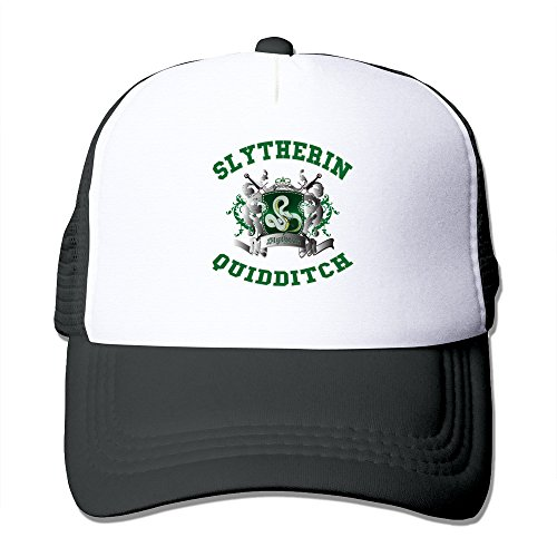 Sophie Warner verstellbar Unisex halb Netz Harry Potter Slytherin Quidditch Gap Hat Schwarz One Size Gr. Einheitsgröße, Schwarz - Schwarz (Slytherin Hat)