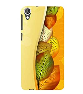 Vizagbeats Hiding Leaves Back Case Cover for HTC Desire 820