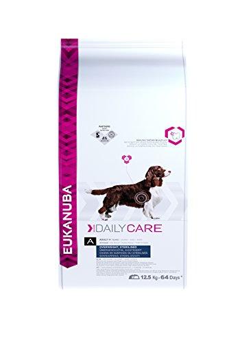fettarmes hundefutter Eukanuba Daily Care, fettarmes Hundefutter für übergewichtige, kastrierte oder sterilisierte Hunde, Trockenfutter mit Huhn (1 x 12,5 kg)