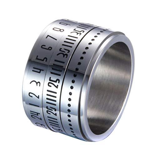 Abracing Retro breite drehbare Zahl-Taktgeber-Zeit-Bester ursprünglicher Farben-Stahlband-Ring-Kreis -