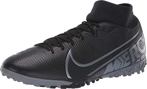Nike Herren Superfly 7 Academy Tf Fußballschuh, Black/MTLC Cool Grey-Cool Grey