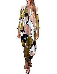 Damark(TM) Vestidos Mujer Casual Vestido de Verano Largo Maxi Falda Mujer Cuello en