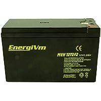 Batería de Plomo AGM (Hermética) Alta Descarga, 12 Voltios, 7,2 Amperes, Dimensiones 151X65X94 mm, Terminales Faston, Peso 2.2k