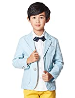 BYCR Big Boys' Formal Wedding Long Sleeve Suit Pocket Blazer Jacket No. 61506501 (160 ( fit height 150-160cm ), blue)