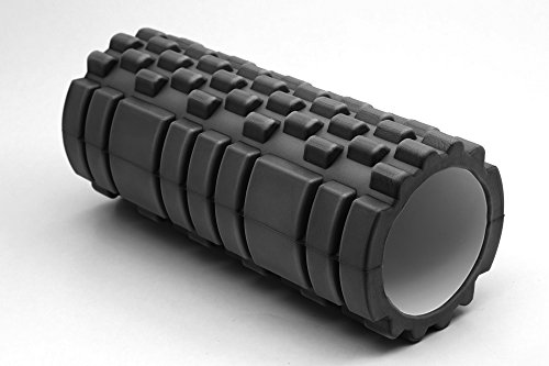 TNP-Accessories-Hollow-Foam-Roller-Grid-Beast-Massage-Pilates-Trigger-Point-Yoga-Gym-Roller-Exercise-Revolutionary-Black