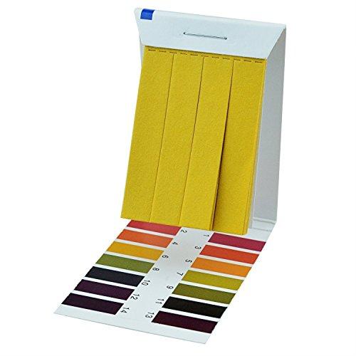 PH-Teststreifen (PH 1–14), 4Packungen 320pcs Test Papier Streifen Litmus Tester für Speichel Urin Wasser Bodentest Universal Anwendung (Ph-papier-teststreifen Labor)