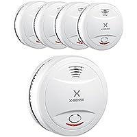 X-Sense SD12 10-Jahres Rauchmelder, DIN EN 14604, Batteriebetrieben, 5er-Set