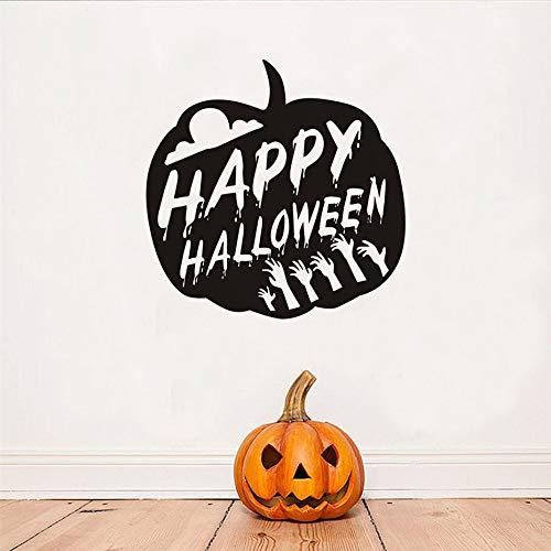 n Kürbis Wandtattoos Für Kinderzimmer Halloween Dekoration Hallowmas Festival Wandaufkleber Shop Glas Wand Decor44X44Cm Kinderzimmer ()