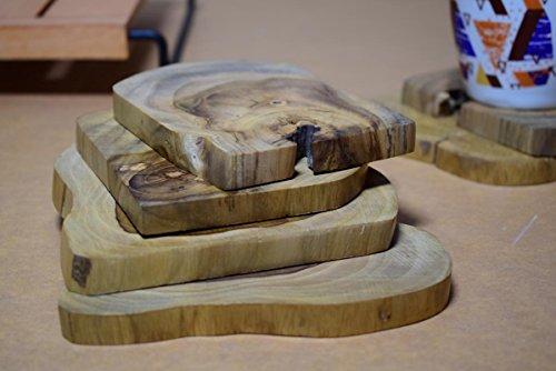 hashcart wunderschönen handgefertigt Dampf Buche Holz Untersetzer für Home & Décor/Küche-Set von 6 -