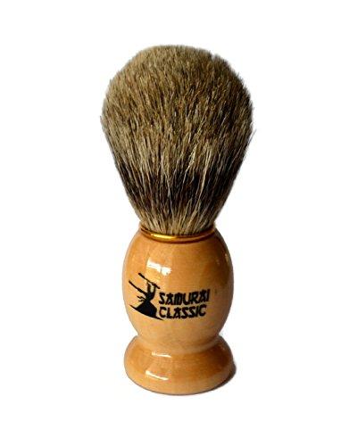 De mujer de estilo clásico con espada 100% en estado puro de pelo de tejón de cepillo para el afeitado