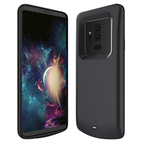 Custodia Batteria Samsung Galaxy S9 Plus, BasicStock 5200mAh Li-Polymer Ultra Sottile portatile Ricaricabile Esterna Integrata Power Bank Charger Juice Pack Protettiva Case Cover per Samsung Galaxy S9+ (Nero)