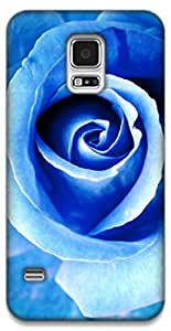 The Racoon Grip Blue Beauty hard plastic printed back case / cover for Samsung Galaxy S5