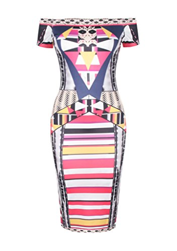 Smile YKK Schulterfrei Reizvoll Damen Sommer Kurze Aermel Slim Fit Kleid Bodycon Kleid Cocktailkleid Party Kleid Casual Kleid Festlich Kleid Bunt Bunt