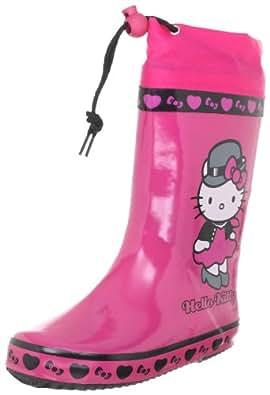 Hello Kitty IANKAR 223430-30, Stivali di gomma bambina, Rosa (Pink (Fuchsia 21)), 28
