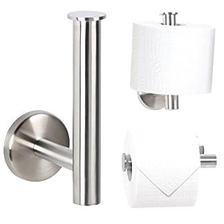 Bremermann Bad Serie Piazza – Portarrollos de papel higiénico (acero inoxidable)