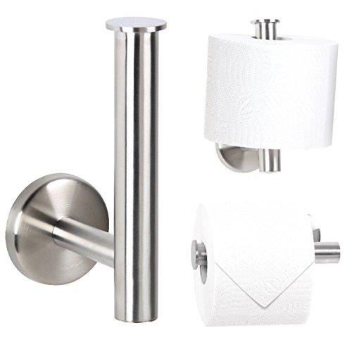 Bremermann® Bad Serie PIAZZA   Toilettenpapierhalter 2in1 Aus Mattem  Edelstahl