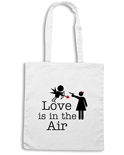 T-Shirtshock - Borsa Shopping T0098 love is in the air Bianco