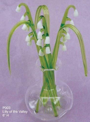 Personalisierte Blumen Glas in einer vase, Glas, Lily of the Valley