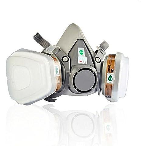 Bargain World 6200 b doppia maschera a gas di protezione chimica maschera respiratoria filtro