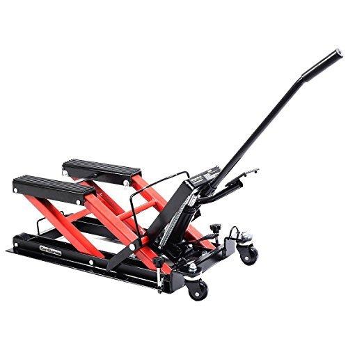 Preisvergleich Produktbild Goplus Motorcycle ATV Jack Lift Stand Quad Dirt Street Bike Hoist 1500 Lbs New by Goplus