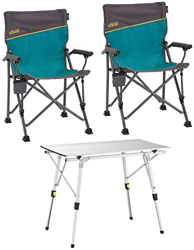 (Uquip 'Bloody' Campingmöbel Set 3-TLG. Campinggarnitur mit Falttisch + 2X Campingstuhl)