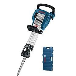 Bosch Professional GSH 16-28 Abbruchhammer, 400 mm Spitzmeißel, 28 mm Werkzeugaufnahme, 41 J Schlagenergie, 1.750 W, Trolley