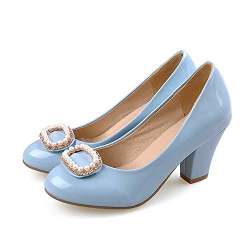 1TO9 da donna in tessuto con perline formale gomma pumps-shoes Blue