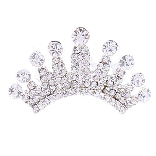 Sharplace Damen Mini Diadem Hochzeit Braut Krone Tiara Haarkamm Strass Kristall Einsteckkamm Silber - Typ 2 (Mini-tiara Silber)