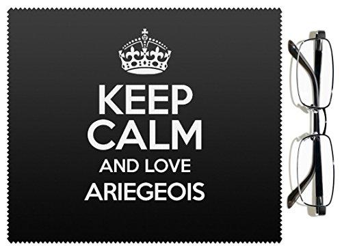 Preisvergleich Produktbild Schwarz Keep Calm und Love Ariégeois Objektiv Reinigungstuch Farbe 1469