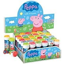 IRPot-18 BOLLE DI SAPONE PEPPA PIG REGALINI GADGET COMPLEANNO BAMBINI BAMBINA PARTY