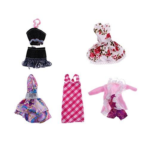 Monster High Kleidung (Gazechimp 5 Set Fashionistas Ballkleid Abendkleid Kleidung Kleider Anzug für Monster High)