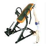 KuaiKeSport Rückentrainer,Schwerkrafttrainer Inversionsbank Komfort-Schaum-Rückenlehne mit Rückenlehne mit Lendenkissen,Rücken Trainer Höhenverstellrohr Erhöhen Sie die Durchblutung