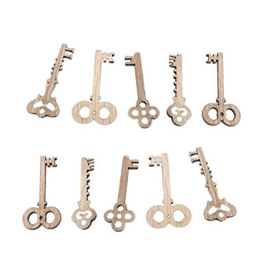 Vintage Keys DIY Weihnachtsschmuck Ornamente Hochzeit Partei bevorzugt Handwerk Holz ()