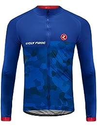 Uglyfrog 2018 Deportes Al Aire Libre Hombres Thermal Fleece Otoño / Invierno De Manga Larga Ciclismo Jersey Triatlón Ropa Bicicleta Maillots DTZHB03