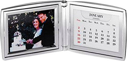 Silver Plated Folding Calendar Photo Frame By David Van Hagen