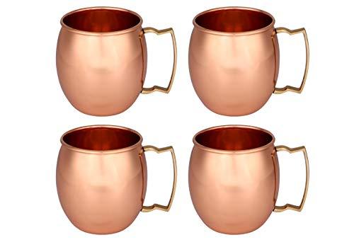 Zap Impex ® fabricados a mano de cobre puro nivel moscow mule vasos tipo del 4