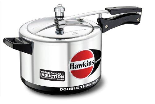 Hawkins Hevibase Aluminum Induction Model Pressure Cooker, 5 Litres