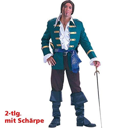 Pirat Francis Männer-Kostüm Piraten Karneval Fasching Mottoparty Anzug Schärpe (54)