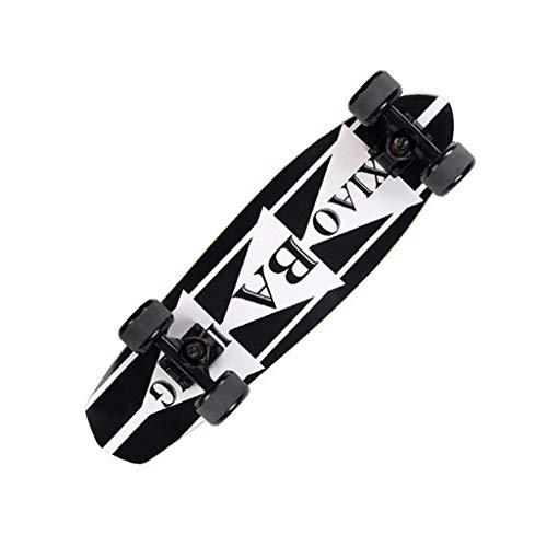 YXLZZO Anfänger-Roller für Anfänger mit Vier Rädern, Skateboard-Jugend-Ahorn, Skateboard, 13 × 68 cm (Farbe : A)