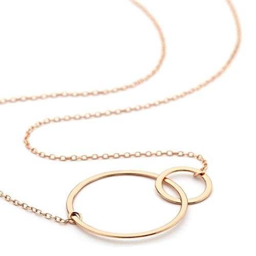 onebyone-double-ring-rose-gold-plated-necklace-for-women-over-925-sterling-silver